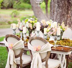 Tavolo sposi in stile Shabby