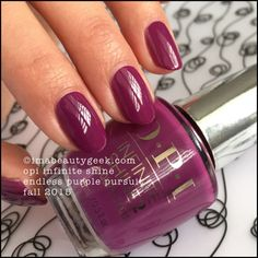 OPI Infinite Shine Endless Purple Pursuit Fall 2015