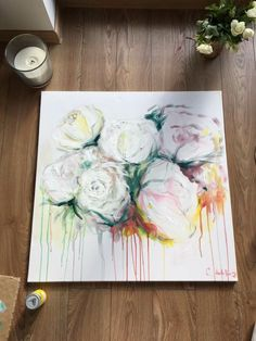 My painting îs about roses