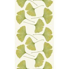 Ginkgo Marimekko fabric sateen