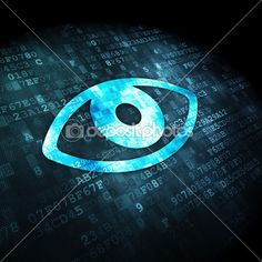 Protection concept: Eye on digital background — Image #38252879