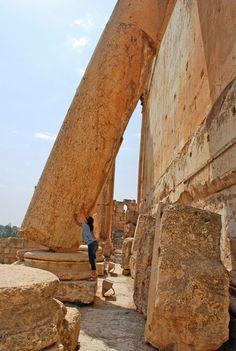 the ancient roman ruins in Baalbeck, Lebanon