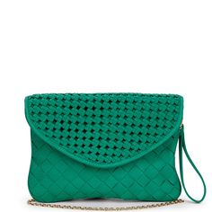 Sole Society - Mixed woven clutchs - Chloe - Cognac