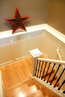 staircase ledge wainscoting