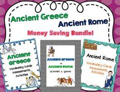 Greece and Rome- here's a money saving bundle that is sure to enhance your ancient civilizations units!