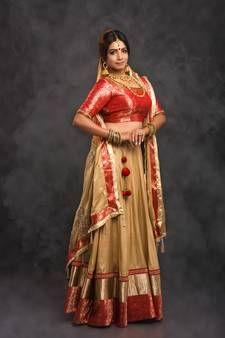 Gold Lehengas - Buy Gold Lehengas Online for Women at Best Prices Gold Lehenga, Lehenga Online, Lehenga Style, Ghagra Choli, Embroidered Silk, Lining Fabric, Sari, Stylish, Wedding Dresses