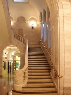Cleveland Public Library stairs.  Would LOVE pictures here