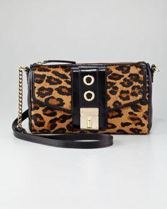 Milly - Harper Leopard-Print Calf Hair Shoulder Bag