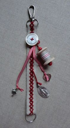 Creating A Legacy With Hand Stamped Jewelry Tassel Bookmark, Key Chain Holder, Sewing Appliques, Tassel Jewelry, Bijoux Diy, Sewing Accessories, Key Fobs, Schmuck Design, Beads And Wire
