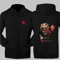 Skeleton King DOTA 2 moletom com capuz herói para meninos versão XXXL Q Rei Leoric padrão de camisola