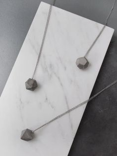 polyhedra necklace geometric concrete necklace by frauklarer