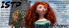ISTP. I think Merida and Astrid would be the BFF's that they've always wanted. lol The risk-takers and the adventurous spirits.