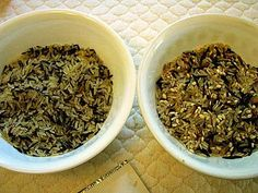 rice-a-roni or uncle ben's wild rice mix from scratch.   use for chicken and wild rice soup. yum.