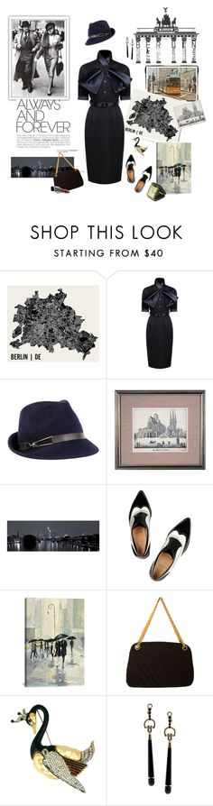 """""""La Fille De Berlin"""" by iriadna ❤ liked on Polyvore featuring Post-It, Eugenia Kim, Erfurt, Christian Louboutin, iCanvas, Chanel, Gucci, Bulova, vintage and VintageInspired"""