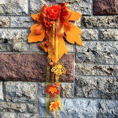 Kränze - Türdeko / Herbstdeko / Fensterdeko / Herbstkranz - ein Designerstück von TATIANAsArt bei DaWanda