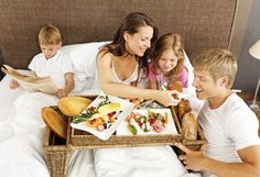 """""""Each weekend, our family has locally-sourced organic breakfast in bed while wearing all white and laughing and laughing. Anniversary Ideas For Him, One Year Anniversary, Anniversary Surprise, Breakfast Buffet, Breakfast In Bed, Breakfast Ideas, Bed Recipe, Breakfast Crockpot Recipes, Mothers Day Breakfast"""