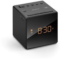 Sony ICFC1 Alarm Clock Radio, Black Amber Day, Best Alarm, Sony Electronics, Timer Clock, Radio Alarm Clock, Daylight Savings Time, Large Clock, Digital Alarm Clock