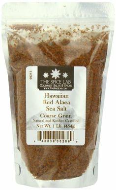 The Spice Lab Hawaiian Coarse Sea Salt, Red 'Alaea, 1-Pound - http://spicegrinder.biz/the-spice-lab-hawaiian-coarse-sea-salt-red-alaea-1-pound/