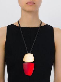 Monies oversized stones necklace