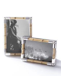 Bamboo-Motif Frame at Neiman Marcus.