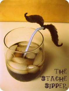 It's Toile Good: The 'Stache Sipper...cute for Harriet the Spy Movie Night...spy disguise
