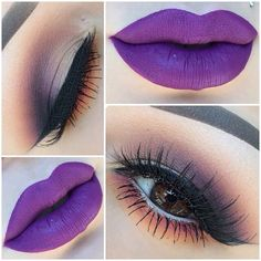 Fancy trying Purple lips this season? - This brown smokey eye goes perfectly with a statement lip...x