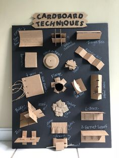 Cardboard Sculpture, Cardboard Furniture, Cardboard Crafts, Cardboard Design, Cardboard Paper, Diy With Kids, Art For Kids, Diy Paper, Paper Art