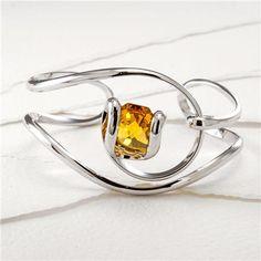 Monique-Bellino Bracelet with Swarovski Crystal Octagon - Wire Wrapped Jewelry, Wire Jewelry, Jewelery, Bellini, Swarovski Crystals, Random, Bracelets, Schmuck, Jewlery
