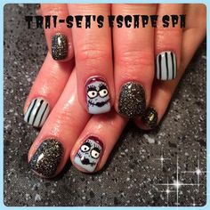 Sally - Nightmare Before Christmas by TraiSeasEscape from Nail Art Gallery