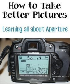 How to Take Better Pictures – Learning all about Aperture! {you'll love these…