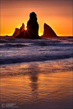 Golden Fortress - Sea Stacks, Oregon Coast