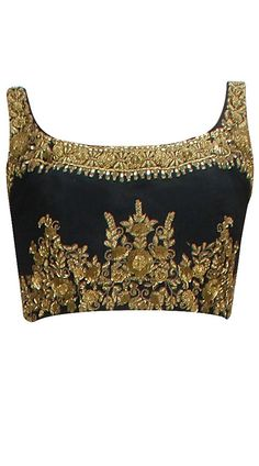 gold embroidered black fabric - Google Search