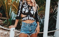 The Matador Crop Top by For Love and Lemons