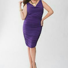 LANE COLLECTION PURPLE RUCHED DRESS! LANE COLLECTION PURPLE RUCHED DRESS! EXCELLENT CONDITION. Ready to wear. Lane Bryant Dresses