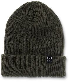 Finish off your look with a simple Carter olive beanie from Empyre. Either slouch it or roll it, this beanie is perfect for your daily look. Skater Outfits, Daily Look, Scrunchies, Beanie, Paintings, Future, Knitting, Hats, Closet
