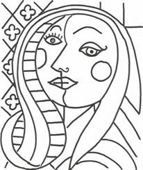 Cubism Coloring Pages