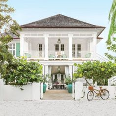 white beach home