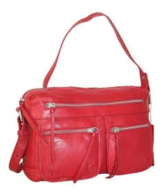 Take a look at this Red Cruising Across Town Crossbody Bag by Nino Bossi  Handbags on 9a0bd20b47001