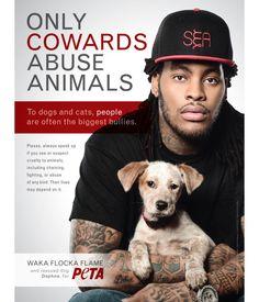 waka flocka for PETA
