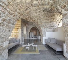 Old Jaffa House 4 / Pitsou Kedem Architects - Arbeitsplatz Concrete Bench, Concrete Furniture, Concrete Floors, Metal Cladding, Wall Cladding, Contemporary Architecture, Architecture Design, Architecture Diagrams, Old Jaffa