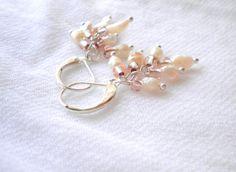 Freshwater Pearl Earrings from juta ehted - my jewelry shop by DaWanda.com