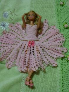 Barbie Crochet Miniaturas Artesanato e Coisas Mais de Tudo Um Pouco e Muito Mais: [Barbie] Como Fazer Vestido de Ponta Em Crochê, Co...