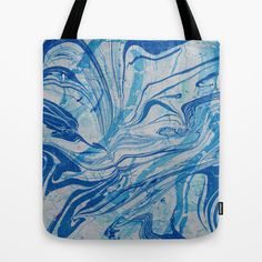 Grey Marble Tote Bag by Rose Thomas