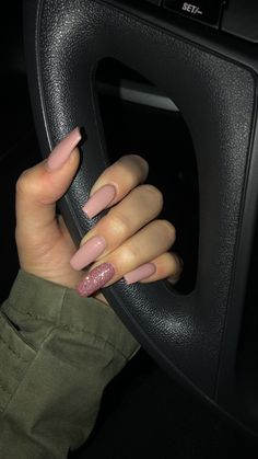 best 63 acrylic nail designs 2019 59 is part of Pretty Acrylic nails Coffin - best 63 acrylic nail designs 2019 59 Related Nails Now, Aycrlic Nails, Matte Nails, Pink Nails, Hair And Nails, Coffin Nails, Glitter Nails, Acrylic Nails Natural, Best Acrylic Nails