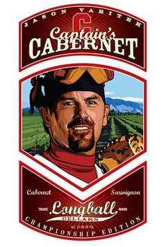 Jason Varitek of the Boston Red Sox on his Charity Wines label of Captain's Cabernet.