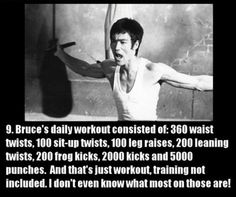 Bruce Lee Workout.