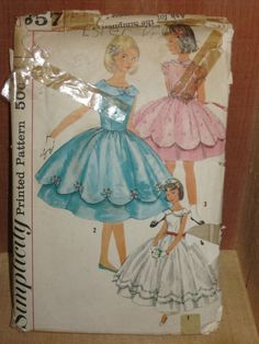 Simplicity (maybe 2857?): cute overskirt design my mother made a dress like this for my 8th grade graduation