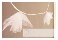 White fairy garland Subtle breezy crisp.9' long. by LaNiqueHOME