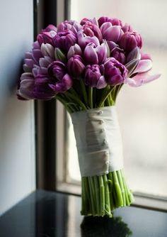 Purple Tulip Bouquet I love!