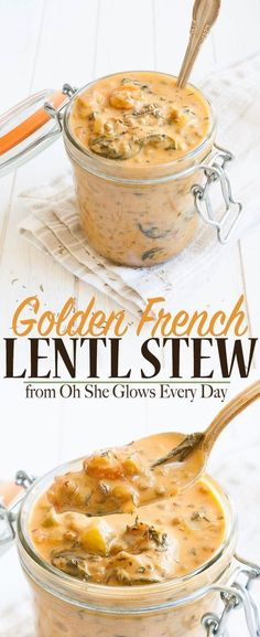 Lower Excess Fat Rooster Recipes That Basically Prime Rich And Creamy Vegan Lentil Stew To Warm You From The Inside Out. Brimming with Healthy Ingredients And Anti-Inflammatory Benefits, To Make A Perfect Cozy Meal Veggie Recipes, Whole Food Recipes, Soup Recipes, Vegetarian Recipes, Cooking Recipes, Healthy Recipes, Vegan Lentil Recipes, Recipies, Vegetarian Stew